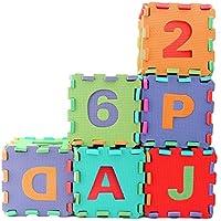 Preisvergleich für JJOnlineStore–Soft Alphabet Anzahl Baby Kinder Schaumstoff Puzzle spielen, Matte Puzzle (A-Z und 0–9)–30x 30cm (12'Zoll jedes Stück)