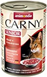 Animonda Carny Senior Katzen-/ Nassfutter Rind und Putenherzen für ältere Katzen, 6er Pack (6 x 400 g)