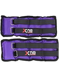 Cheville Poids Violet Double Velcro réglable résistant aux jambes poignet Sangle Croix Course à Pied Fitness Gym Exercice