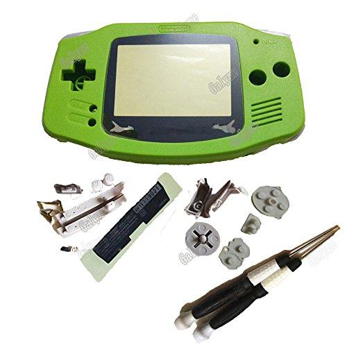 Galyme Schutzhülle für Nintendo GBA Gameboy Advance Handheld-Spielkonsole mit Logo Limitierte Linse, Apfelgrün apfelgrün with Screwdrivers