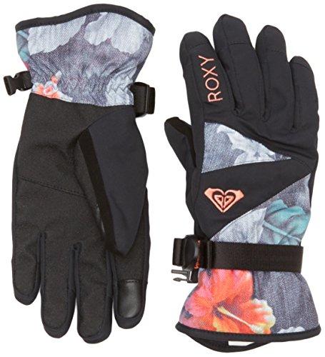Roxy-Jetty-Guanti da sci, da donna, modello: Hawaiian Tropik Paradise Pink, taglia: L (taglia del produttore: L)