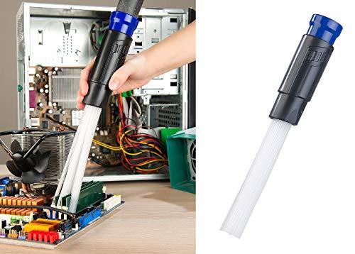 AGT Staubsaugeraufsatz: Universal-Staubsauger-Aufsatz mit 30 flexiblen Saug-Röhrchen (Staubsauger-Düse)