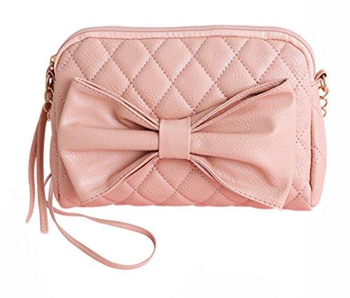 Aivtalk - Damen Fashion Handtasche Umhängetasche Schultertasche mit Schleife PU-Leder - (Handtasche Schleife Mit)