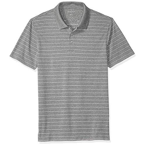 Polo Homme Manches Courtes, Nouveaux Homme Casual Polo T-Shirts à Manches Courtes Chemise Sports Slim Tee Tops, Poloshirt de Quotidien T-Shirt Hauts Ba Zha Hei (L, P12-Gris)