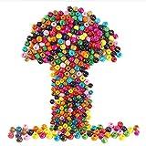 Cuentas Redondas de Madera, ETSAMOR 600 pcs Cuentas de Madera Coloridas para Hacer Joyas Artística Collares Manualidades Surtidos de abalorios 6mm 8mm 10mm