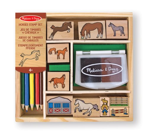 melissa-doug-wooden-stamp-activity-set-horse-stable-9-stamps-5-colored-pencils-2-color-stamp-pad