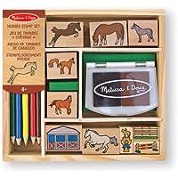 Melissa & Doug - Juego de sellos de caballos (12410)