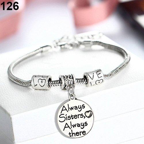 Achidistviq famiglia madre mamma figlio figlia braccialetto braccialetto fascino chic gioielli always sisters always there