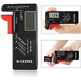 D-FantiX Digitaler Batterietester Batterieprüfer Batterie Volt Prüfgerät für AA AAA C D 9V 1.5V Knopf Knopfzellen-BT-168D