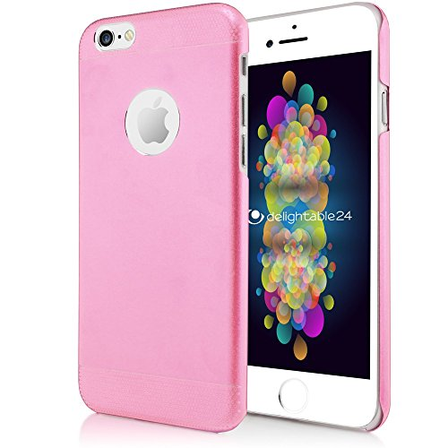 delightable24 Slim Fitted Aluminium Schutzhülle Hülle Cover Case mit Double Layer Technologie APPLE IPHONE 6 / 6S Handyhülle - Gold Rosa