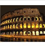 Pintura Digital El Coliseo En Roma Dibujo De Diy Por Números Lienzo Pintado Para Sala De Estar 40X50CM
