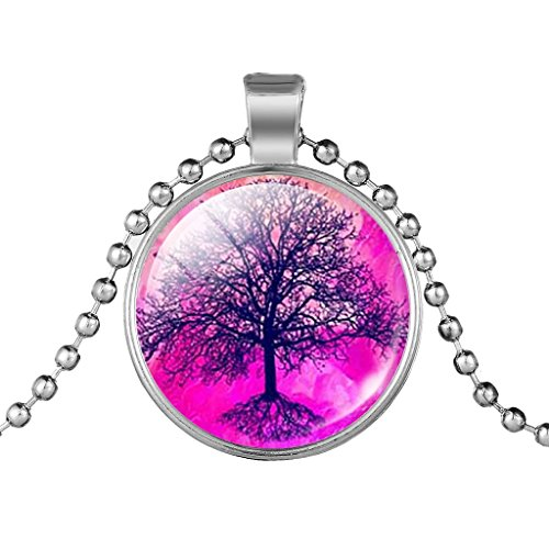 adulte-rose-rouge-world-grand-arbre-collier-gemme-perle-chaine-collier-pendentif-charm