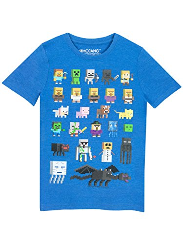 Minecraft Jungen Minecraft kurzärmligen T-Shirt 11 Bis 12 Jahre Blau