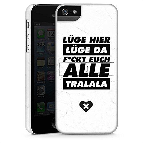 Apple iPhone X Silikon Hülle Case Schutzhülle Lügen Leben Sprüche Premium Case StandUp