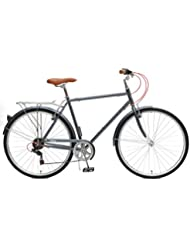 Critical Cycles 2393 Beaumont-7 City-Pendlerrad mit sieben Gängen für Herren - Dunkelgrau, 54 cm/Medium