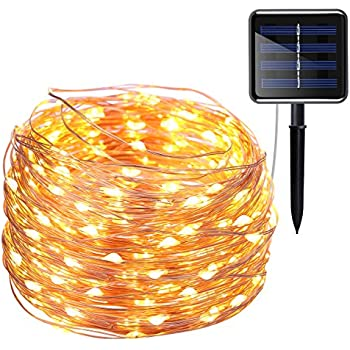 amir solar powered string lights 200led 8 modes starry copper wire solar lights