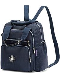 Hozee Backpack Handbag Backpack - Waterproof Nylon Lightweight Shoulder Bags Messenger Cross Body Casual Daypack Multifunction for Girls and Women