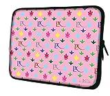 Luxburg® Laptop Tasche 17.3 Zoll Motiv: LX Muster pink