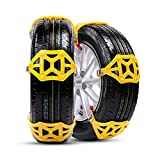 MASO Universal Snow Chains 6Pcs Anti-Skid Snow Chains Portable Easy to Mount Emergency
