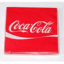 "COCA-COLA Beverage COKE LOGO PARTY NAPKINS 5"" Square (16 pack) by Marketing Results Ltd."