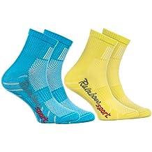 Rainbow Socks Attrattive Combinazioni di Colori |per Ragazza e Ragazzo COTONE Respirante da Correre Bicicletta ed altri SPORT Calzini Sportivi per BAMBINI Numeri: EU 24-29 e 30-35 Made in EU
