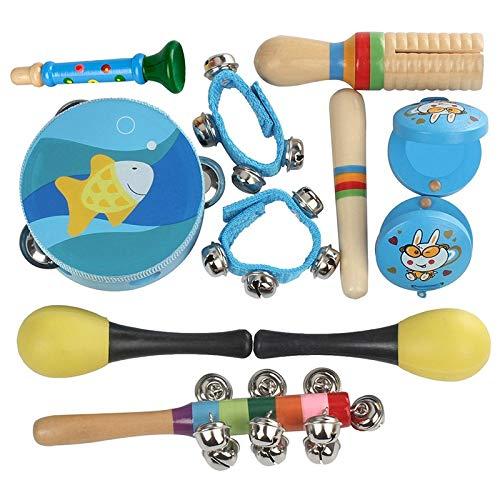 Lindo divertido juguete percusión. 11 piezas percusión