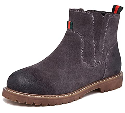 Fangsto Women's Distressed Leather Classic Chelsea Ankle Boots UK Size