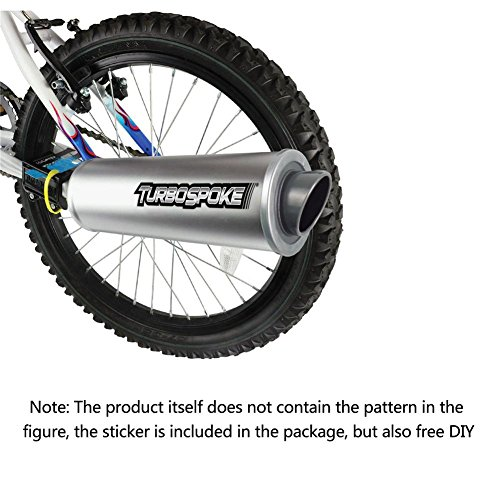 Beatie Turbospoke Fahrrad Auspuffanlage Fahrradzubehör Sechs Soundeffekte Motorrad wilder Soundeffekt Lautsprecher Auspuffrohr