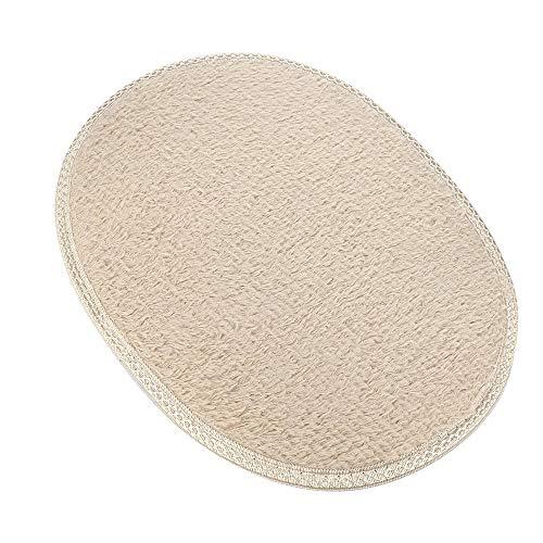 YWLINK Oval FußBodentüRmatte Rutschfester Flauschiger Hochflor Teppiche Hauptschlafzimmer Badezimmer Shaggy Mat