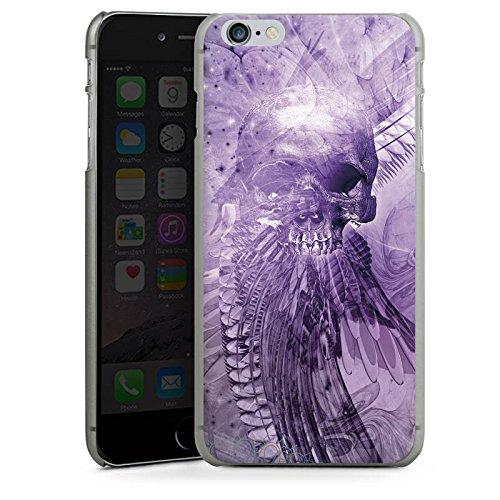 Apple iPhone X Silikon Hülle Case Schutzhülle Skull Totenkopf Lila Hard Case anthrazit-klar
