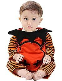 Yannerr Bebé niño recién nacido rayado monstruo mameluco trajes de Halloween conjunto de disfraces