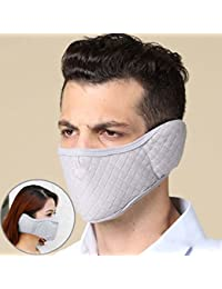 los hombres a prueba de polvo engrosamiento fría boca caliente paseos de invierno orejeras de protección transpirable de otoño e invierno ( Color : E )