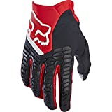 Pawtector Fox Racing Motorcycle Gloves - Motorrad MTB Handschuhe Herren Damen, Rot, L