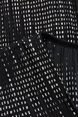 Ulla Popken Femme Grandes tailles Tunique plissée 707107 Noir