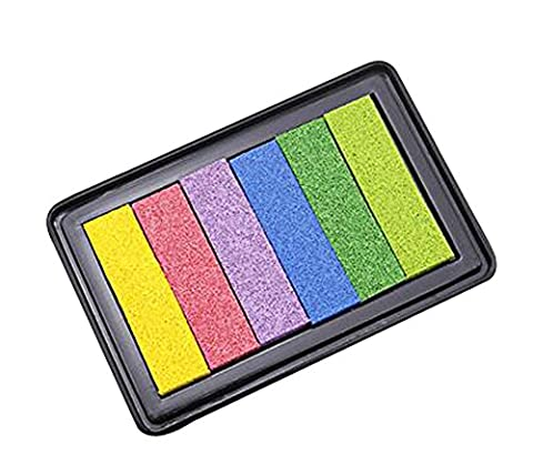 Lot de 2 Inkpad Stamp Stamp Pad d'encre Stamp Ink Stampers encre Multicolor