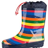 Mountain Warehouse Rainbow Winter Kids Colourful Wellies - Waterproof, Durable, Extra Comfort & Easy Care With Fleece Lining – Ideal For Cold & Wet Weather