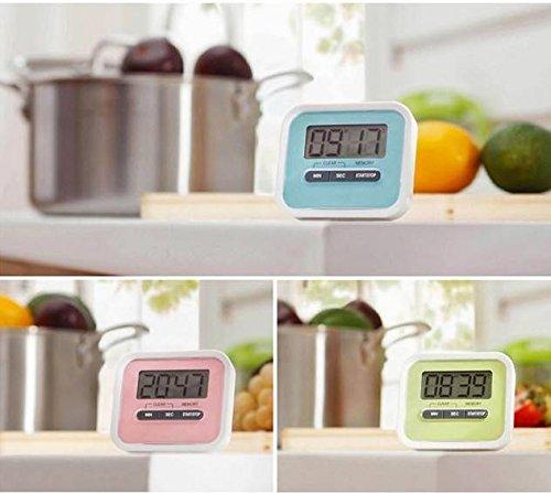 ELEGIANT Digital große LCD Display Küchentimer Küchenuhr Kurzzeitmesser Kurzzeitwecker elektronischer Timer KITCHEN COOKING Time ''Countdown'' mit Magnethalter Blau