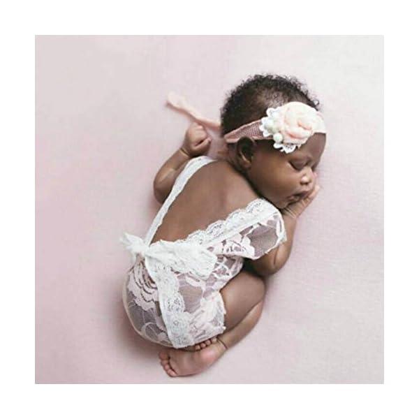Blanco Mummyhug reci/én Nacido Lindo beb/é ni/ña fotograf/ía Prop Chaleco Mono con Bowknot