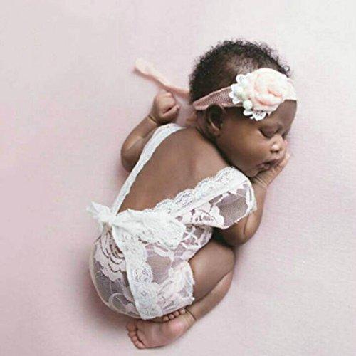 Kostüm Zubehör Prop (Mummyhug Neugeborenen niedlichen Baby Mädchen Fotografie Prop Weste Strampler mit Bowknot (weiß))