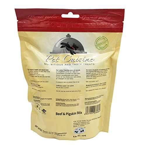 Pet-Cuisine-Dog-Training-Snacks-Puppy-Chews-Jerky-Treats-Beef-Pigskin-Stix-250g