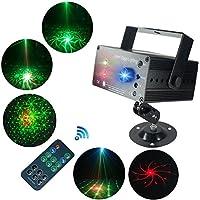 Luz de Escenario, SAHAUHY 3 Fuentes Lente Luces de Discoteca Sonido Activado automático con control remoto (luces de escenario)