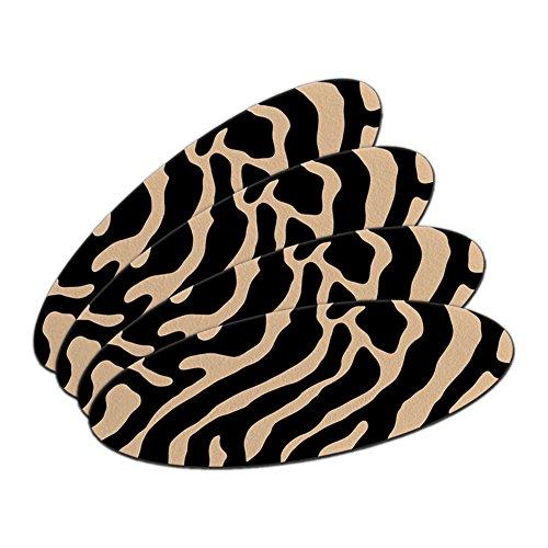 Zebra Print Tan doppelseitig oval Nagelfeile Emery Board Set 4Stück