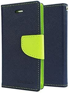 Generic Goospery Mercury Diary Flip Cover for Micromax Canvas 2.2 A114 (Blue)