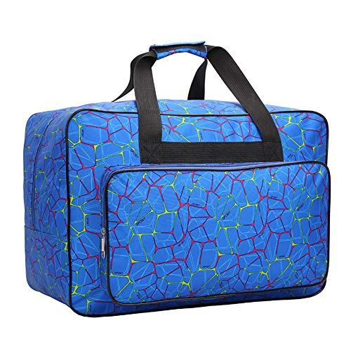Shoulder Bags Bolsa de Viaje portátil Unisex de Gran Capacidad para Deportes o máquina de Coser, Azul, Large