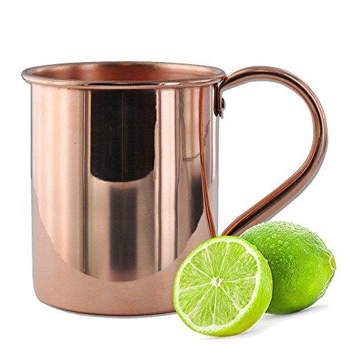 Dungri India di alta qualità rame puro Moscow Mule Mug, Set di 2