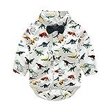 Baby Boy Top Spring Outfit Camiseta White Dinosaur Printed Romper Blusa de algodón para 0-24 meses Toddler Infant Newborn