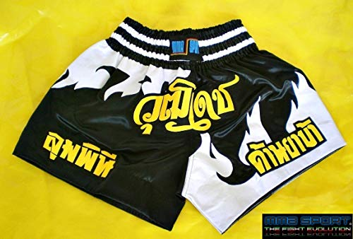 mmasport Muay Thai Shorts Thai Boxe Kick Boxing MMA Satinati Tribal, L