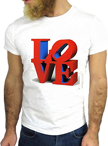 T-SHIRT JODE GGG24 Z0696 LOVE QUOTE FUN COOL VINTAGE ROCK FUNNY FASHION CARTOON NICE AMERICA BIANCA - WHITE