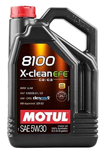 Olio lubrificante per motore Motul 8100 X-clean EFE C2/C3 5W-30, 6 lit