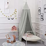Bed Canopy for children, Cotton Mosqutio Net Hanging Curtain, Baby Indoor Outdoor Play Reading Tent, Bed & Bedroom Decoration, Insect Net Protection (High 240cm,Upper Circumference: 152cm, Lower Circumference: 265cm) (Grey)
